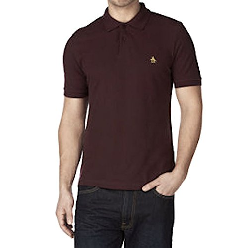 original-penguin-polo-homme-marron-bois-marron-m