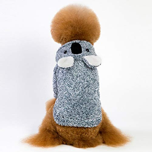 CWYPWDY Pet Kleidung Herbst und Winter Hund Hoodies Kleidung einfarbig korallen samt hundemantel mäntel verdickung faul bär Teddy Hund ()