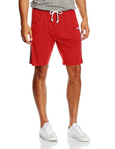 Lonsdale - Hose Charlbury, Pantaloni sportivi Uomo, Rosso (Dark Red), Medium (Taglia Produttore: Medium)