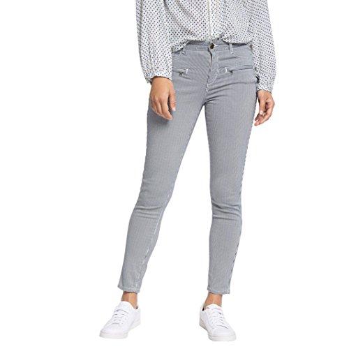 Esprit Donna Pantaloni A Righe 5 Tasche, Lunghezza 28 Taglia 44 Bianco
