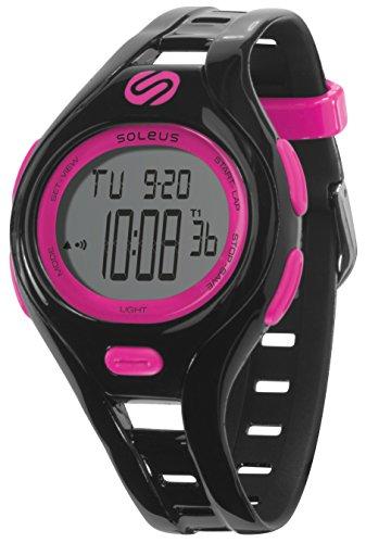 Soleus Dash Damen Fitness Uhr Aktivitätstracker Wasserfest - Schwarz/Pink  Größe S  SODSMBKFU (Damen Dash)