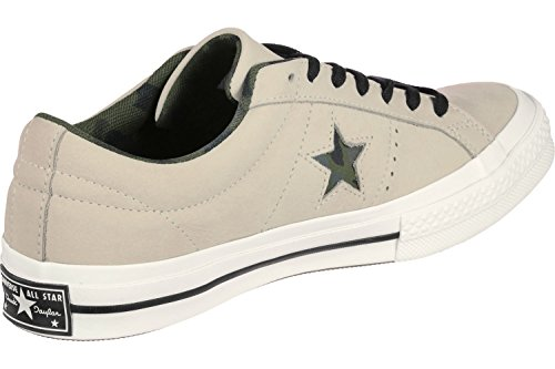 Converse Sneakers Uomo, uyility Camo Ox One Star 159782C/EGRET/BLACK/HERBAL, in Tela Colore Beige, Nuova Collezione Primavera Estate 2018 egret/black/herbal