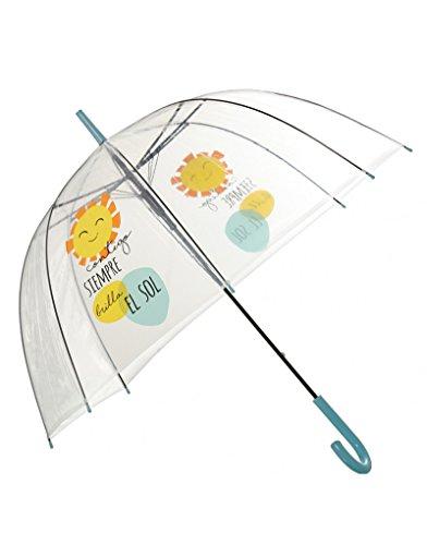 Paraguas transparente con frase divertida