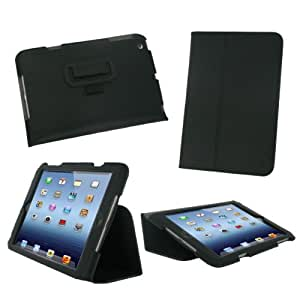 rooCASE Ultra-Slim (Black) Vegan Leather Folio Case for Apple iPad Mini 7.9-Inch Tablet - Thinnest Folio with Sleep / Wake Smart Cover Feature