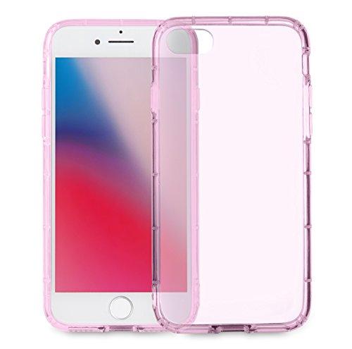 MyGadget Flip Case Hülle für Apple iPhone 7 mit Kartenfach und Standfunktion Klapphülle aus Kunstleder (PU) Schutzhülle Wallet Book Cover - Schwarz Crystal Case Rosa