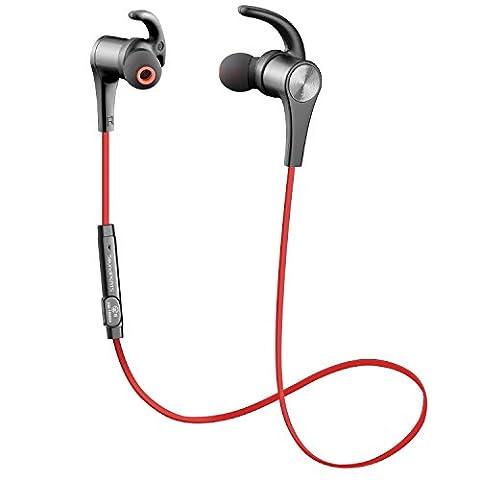 SoundPEATS Oreillette Bluetooth 4.1 magnétique, écouteur sans fil pour sport
