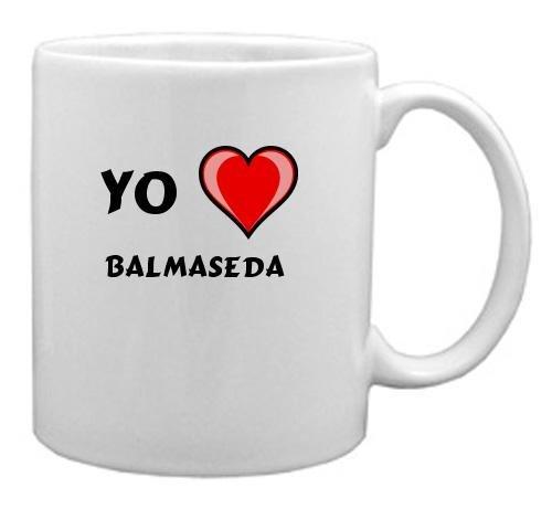 """Taza de cerámica con estampada de """"Te quiero"""" Balmaseda (ciudad / asentamiento)"""