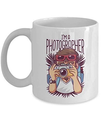 Photographer Mug - I'm A Photographer - Shoot Camera Lens Snap Focus Capture Flash Model Editing Polaroid Photo Shooting Photography 11 Oz