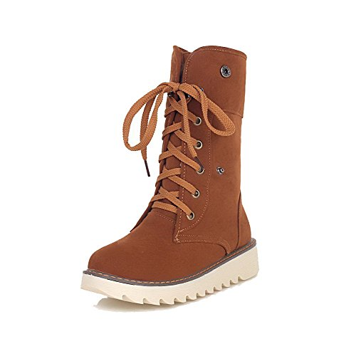 allhqfashion-womens-round-closed-toe-low-top-low-heels-solid-imitated-suede-boots-brown-36