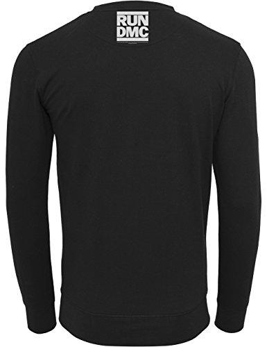 Mister Tee Felpa da uomo Run Dmc Logo Girocollo, Uomo, Pullover Run DMC Logo Crewneck, grigio, XS nero