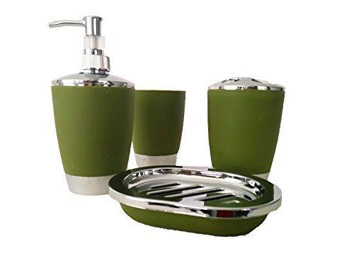 Stella 4Pc Plastica elegante Accessori Bagno Set