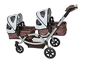 DeCuevas City Twin Doll Pram and Stroller with MITTS ...