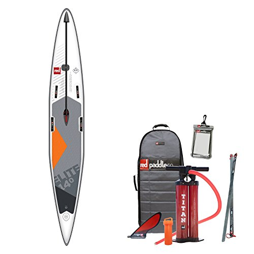 Red Paddle Co - SUP - Stand Up Paddle Boarding - Elite 14';0 X 25 Aufblasbares Stand Up Paddle Board + Tasche, Pumpe, Paddel & Leine -