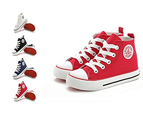 Unisex Kids Boys Girls Espadrilles High-top Canvas Gym Casual Shoes