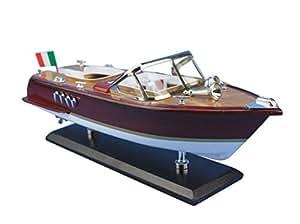 maquette de bateau en bois hors bord italien