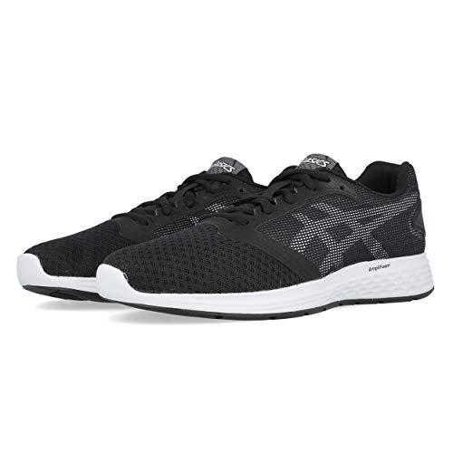 Asics Patriot 10, Zapatillas de Running para Mujer, Negro (Black/White 005), 41.5 EU