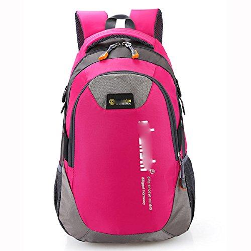 Freizeit-Mode-Reise-Rucksack-Schule-Beutel-Kursteilnehmer-Schulter-Beutel-Tagesbeutel,Lavender RoseRed