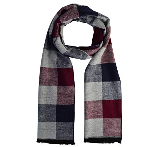 7a27e440c9759 Wobe Men Scarf Silky Warm - Cotton Scarves for Fall & Winter 72 by 12 inch