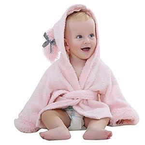 IBLUELOVER Serviette de Bain Bébé Drap de Bain à Capuche Poncho Enfants Filles Garçons Peignoir de Bain Douce Séchage… 12
