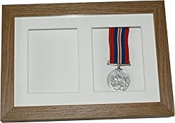 Deep Shadow Box Double Display Frame, Twin 4x3 Display Case For Medals,keepsakes