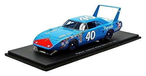 Spark - S3607 - Plymouth - Superbird - Winner Daytona 500 1970 - Échelle 1/43 - Bleu/Rouge