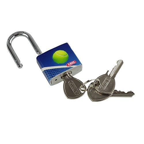 Schloss Vorhängeschloss Abus mysport Tennis 30mm 3Schlüssel Aluminium Kunststoff