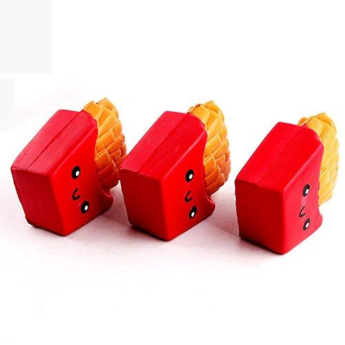 Entspannen Sie Körper Creme (Xshuai Spielzeug 12CM Pommes Frites Creme duftende Squeeze 6 Sekunden langsame steigende Spielzeug neu (rot))