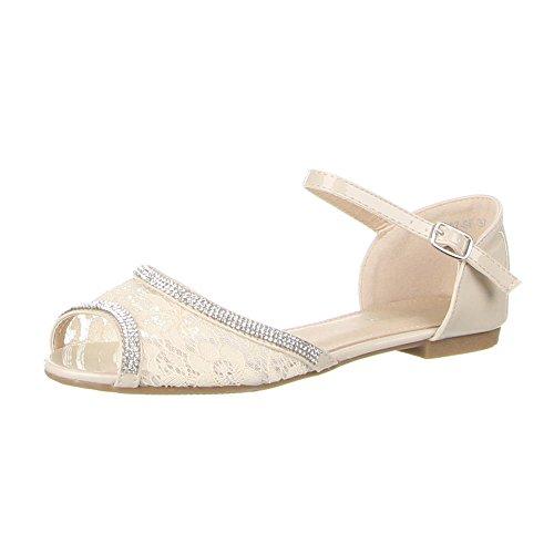 Ital-Design , Escarpins peep-toe femme Beige - Beige