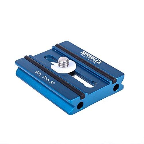 Novoflex QPL Slim 50 Flache Klemmplatte (Wechselplatte, Kameraplatte) - z.B. für Systemkamera an Q=Mount Schnellkupplung (Arca-kompatibel) Novoflex Flash
