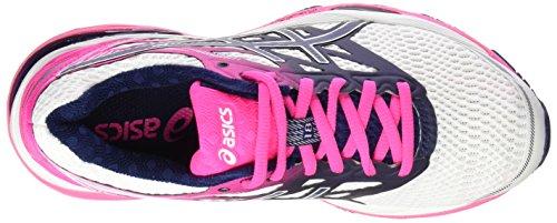 Asics Gel-Cumulus 18, Chaussures de Running Entrainement Femme Blanc Cassé (White/indigo Blue/hot Pink)