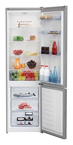 Beko RCSA270K30XP Kühlschrank/A++/Kühlteil 175 L/Gefrierteil 87 L/Antibakterielle Türdichtung/3 Gefrierfächer/variablen Glasablagen