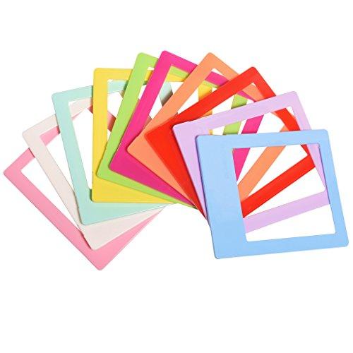 Polaroid 10 Bunte Minifoto-Bilderrahmen, Format für 3x4 Fotopapier (POP)