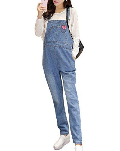 Umstandsmode Umstandshose Umstandsjeans Latzhose Overall Jumpsuit Playsuit Hellblau L