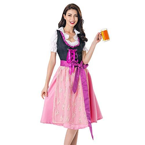Simmia Halloween Kostüm,New Halloween Cosplay Bier Dienst Bar Kellner Deutsch Karneval, 1365, ()