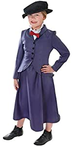 Mary Poppins Victorian Nanny Childs Fancy Dress Costume - M 134cms