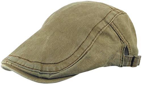 2c89fe55c22f08 Feelinko Flat-Cap im Vintage-Design Kappe Kopfbedeckung Sonnenschutz Mütze  Sommer Urlaub Herren,