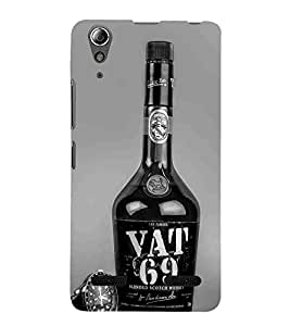 For Lenovo A6000 Plus :: Lenovo A6000+ :: Lenovo A6000 wisky bottle, bottle, grey wallpaper, watch, wisky Designer Printed High Quality Smooth Matte Protective Mobile Case Back Pouch Cover by APEX
