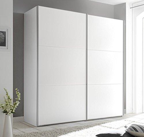 STAUD Includo 188er Breite Schwebetürenschrank Kleiderschrank 2-türig Dekor weiß