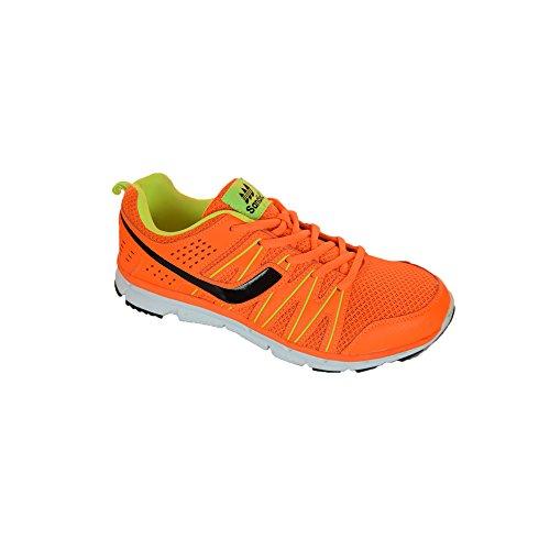 Sandic , Chaussures pour homme spécial foot en salle - orange/leuchtgrün