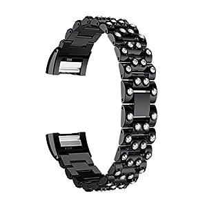 Vovotrade ❤❤ Für Fitbit Charge 2 echtes Edelstahl Armband intelligentes Uhr Band Bügel für Fitbit Gebühr 2 (C)