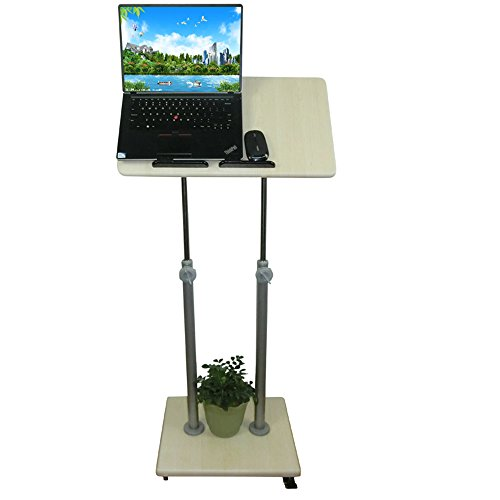 (Tische MEIDUO Mobile Stand up Desk Podium Präsentation Rednerpult Höhenverstellbar Mehrzweck-Steharbeitsplatz Computertisch (Größe : A (80-132) cm))