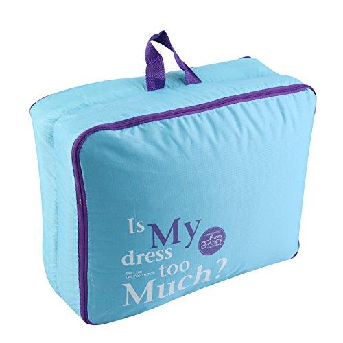 Topteck Nylon Reisegepäck Organizer Taschen 5er-Sets Aufbewahrungstaschen,Blau Blau