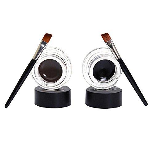 Eyeliners,OVERMAL le eye-liner 2Pcs Eye - Liner Eye - Liner Ombre Gel éTanches Brosse Brun Noir Composition CosméTique