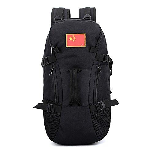 e-jiaen Rucksack 75L Hohe Kapazität Umhängetaschen/Handtasche für Speicher oder Veranstalter von Comping Wandern Reisen Mountaining Angeln Sport Zubehör schwarz