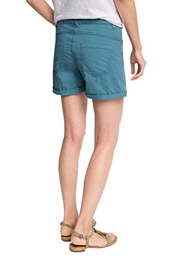 edc by ESPRIT Damen Short Blau (TEAL BLUE 455)