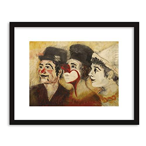 GaviaStore Quadro 70x50 cm - Pagliacci - senza cornice - Stampa stampe arte poster art print dipint home decor soggiorno sala parete clown circo