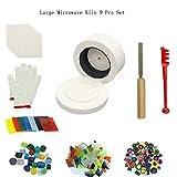 Jiajie groß Mikrowelle Ofen Kit Schminkpinsel-Set für Fusing Glas Ofen