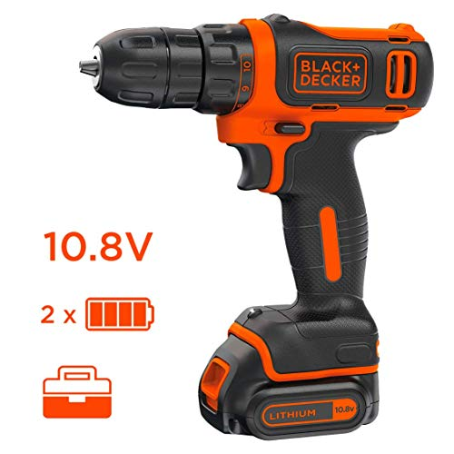 Black & Decker BDCDD12KB-QW Perceuse visseuse sans fil...