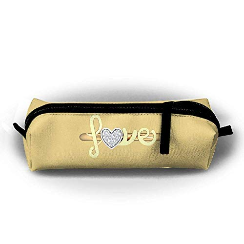 Mäppchen Love Logo Fashion Student Pen Holder Makeup Bag Zipper Pouch -
