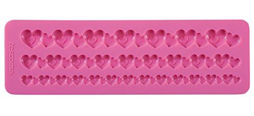 Tescoma 633040 Stampo in Silicone per Pasta di Zucchero, Bordure con Cuori